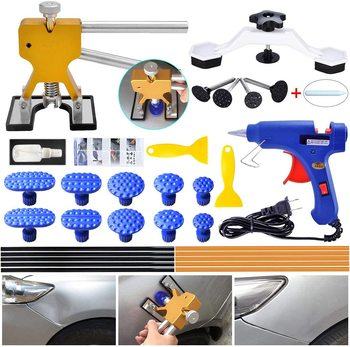 Gliston Dent Removal Tools Car Dent Removal Puller Bridge Kits 10pcs Glue Tabs Repair Removal Tool Car for Vehicle 6 33mm diesel swirl flap blank repair delete removal kits rubber aluminum tool accessories for bmw previous m57