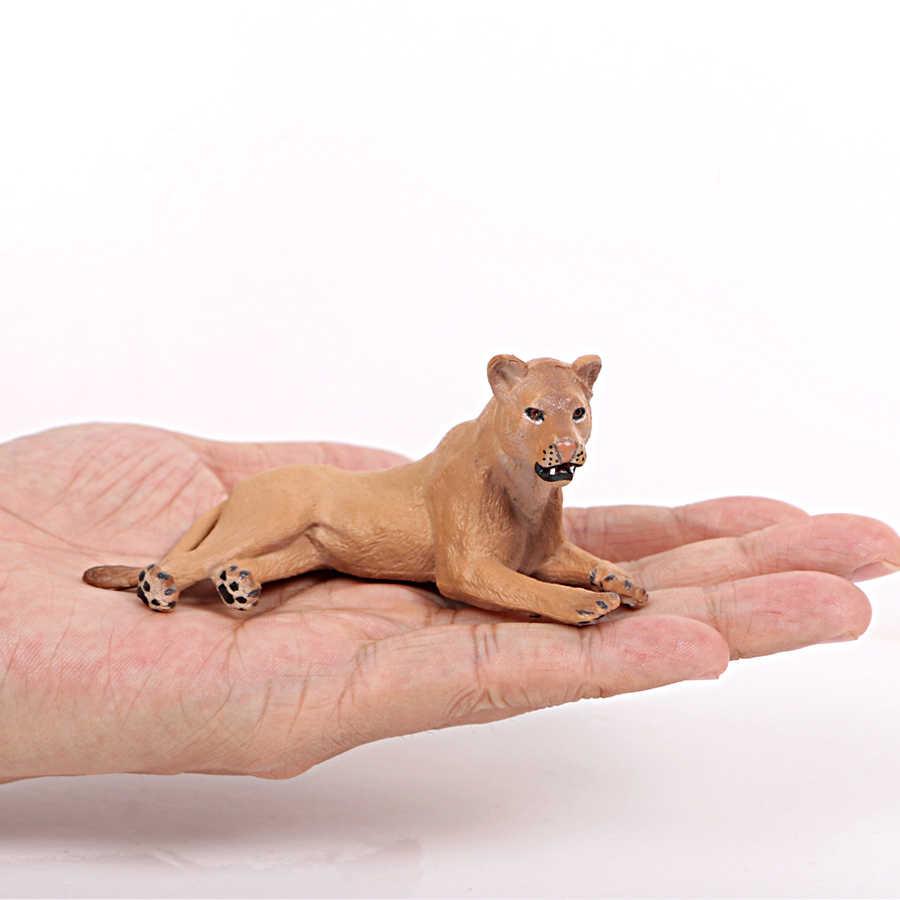 Leão realista Figura Família, Leões Toy Figuras de Ação com o Rei Leão, Leoas Filhotes de Colecionador de Brinquedos Decoração Modelo Animal