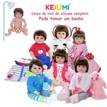 KEIUMI Reborn Menina Menino полностью силиконовые виниловые куклы Reborn Baby, подарки на день рождения, модные игрушки для купания для маленьких детей
