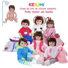 KEIUMI 도매 Reborn Menina Menino 전체 실리콘 비닐 Reborn Baby Dolls 생일 선물 Fashion Can Bath Baby Kids Playmate(China)