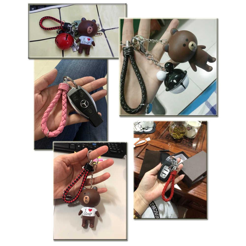 30 renk örgülü deri anahtarlık el yapımı dokuma anahtarlık DIY kolye araba anahtarlık anahtarlıklar erkekler kadınlar için küçük hediye takı