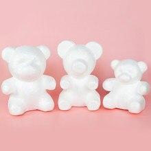 1Pc de espuma de peluche oso de peluche de molde de rosas arte DIY para boda decoración de fiesta de cumpleaños de regalo de día de San Valentín poliestireno espuma de poliestireno oso