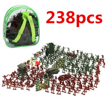 238pcs Mini Gift Accessories Military Soldier Model Set Kit Toddler Army Men Kids Toy Figures Tanks Children Play Static