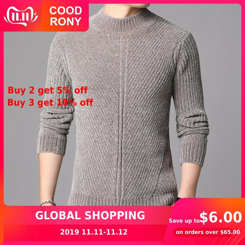 COODRONY Brand Turtleneck Sweaters Thick Warm Winter Sweater Men Cotton Pullover Men New Arrival Fashion Casual Pull Homme 91131