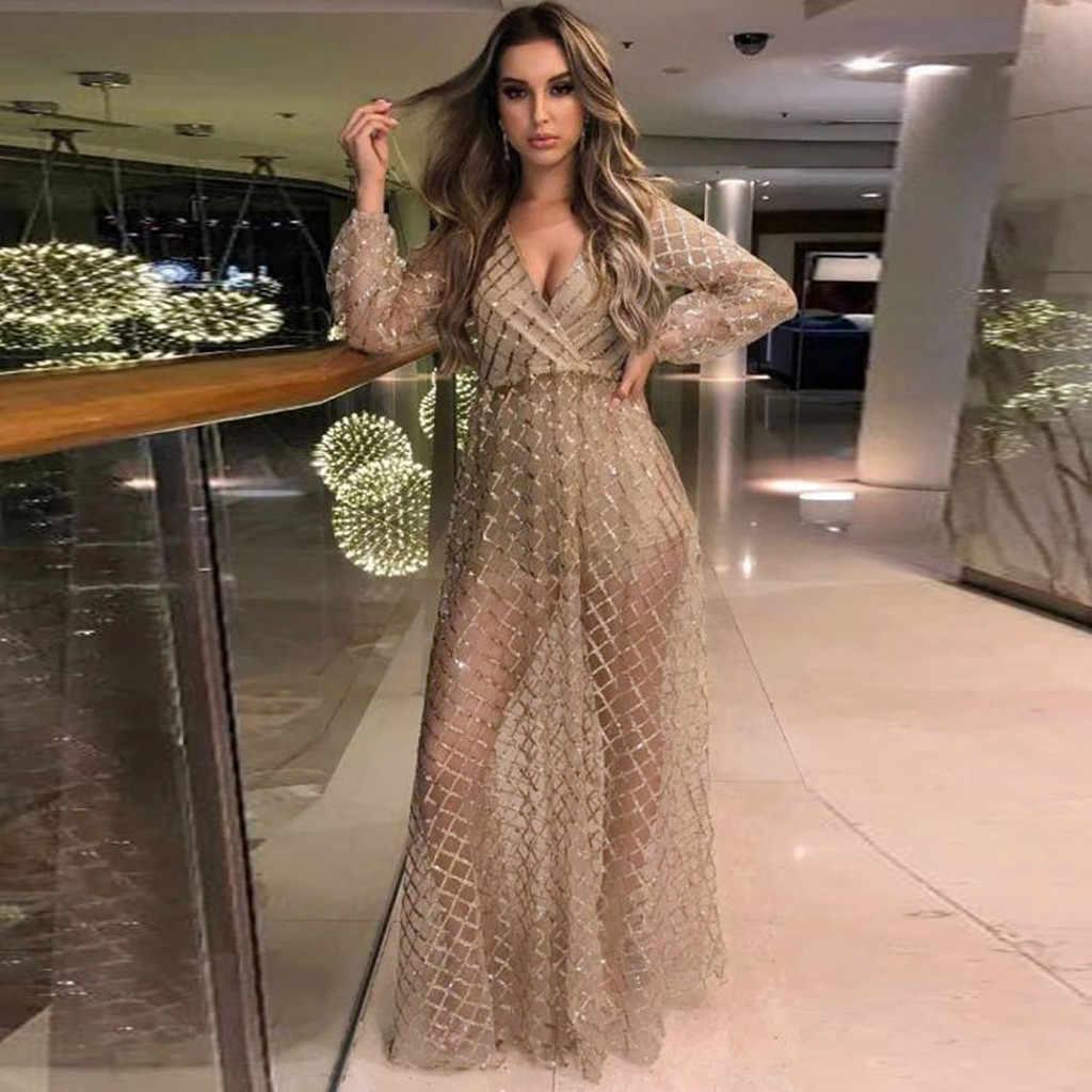 Maxi Kleider Für Frauen Sexy Sling Kreuz Hochzeit V-ausschnitt Elegante  Abend Party Kleider Damen Slim Hohle Spitze Lange Kleid Vestido