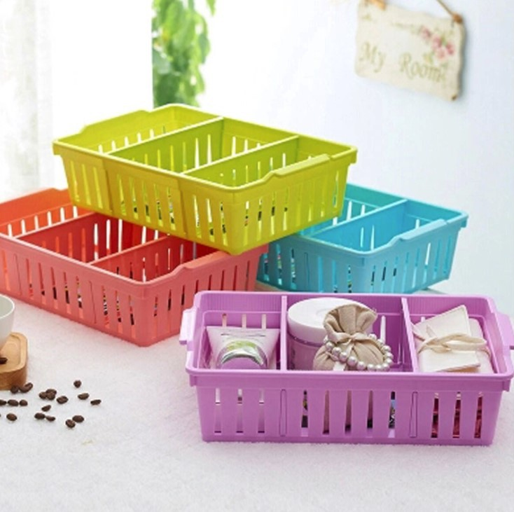 Baffle-Seperated Drawer Layered A4 Plastic Basket Storage Basket Plastic Basket Storage Basket Fruit Basket Small Basket Small