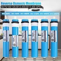 50/75/100/125/400gpd osmose reversa ro membrana filtro de água substituição ro sistema água filtro água potável purificador|Cartuchos p/ filtro de água|Eletrodomésticos -