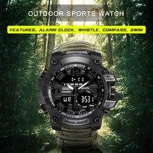 Addies esportes relógio masculino 50m bússola multifunções militar relógios de pulso lcd digital cronômetro suíço à prova dwaterproof água luminoso pulso