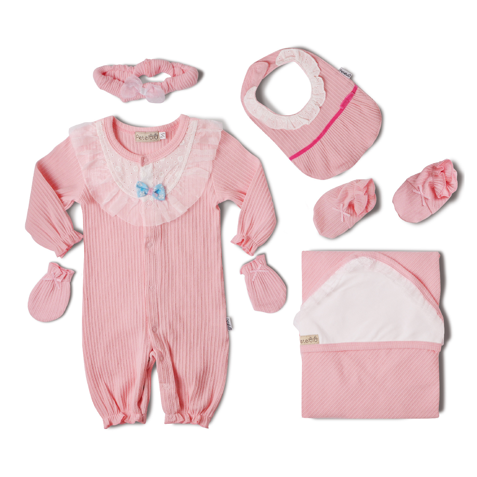 Cotton Sunken Stripe Jacquard New Style Clothes For Babies Infant Gift Set 0-March Pure Cotton Newborns Gift Package