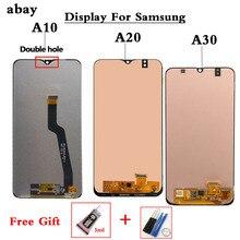 LCD สำหรับ SAMSUNG GALAXY A10 A105 A105F A20 A20 A205 A30 A305 จอแสดงผล LCD TOUCH Digitizer หน้าจอ LCD เปลี่ยน