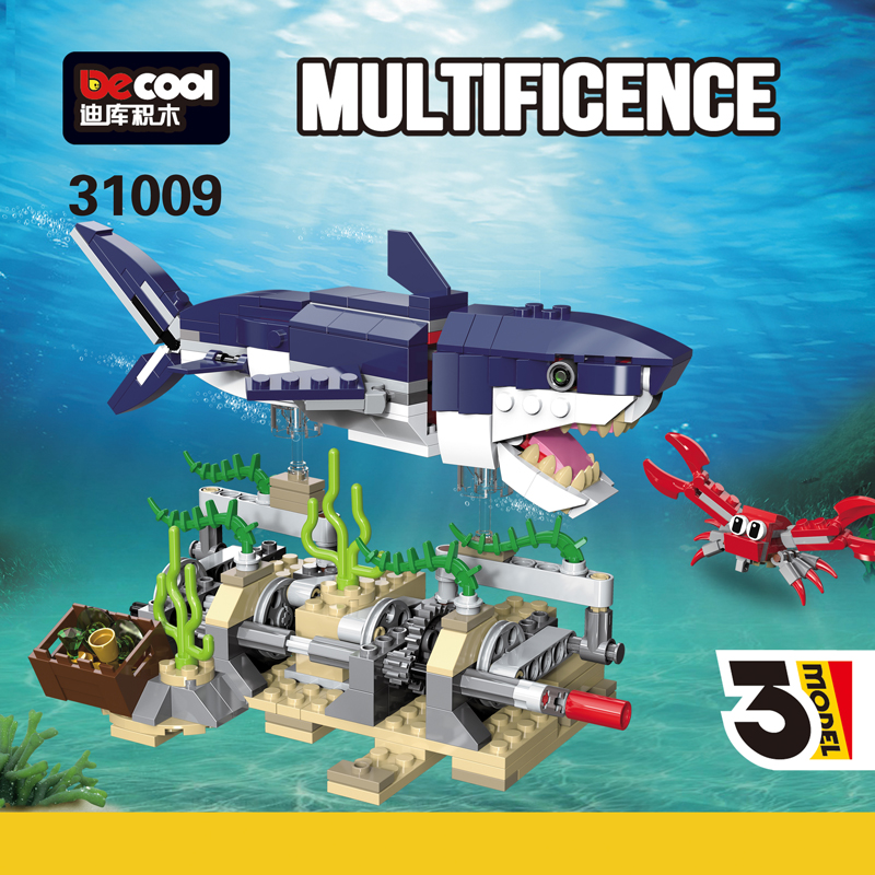 388pcs CREATOR Deep Sea Creatures 3in1 Compatible Legos 31088 City Building Blocks Bricks Toys For Children's Christmas Gifts