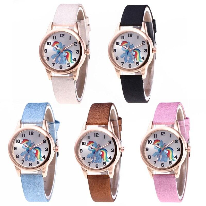 Children's cartoon leather strap quartz children's watch, children's Christmas gift cartoon children's watch