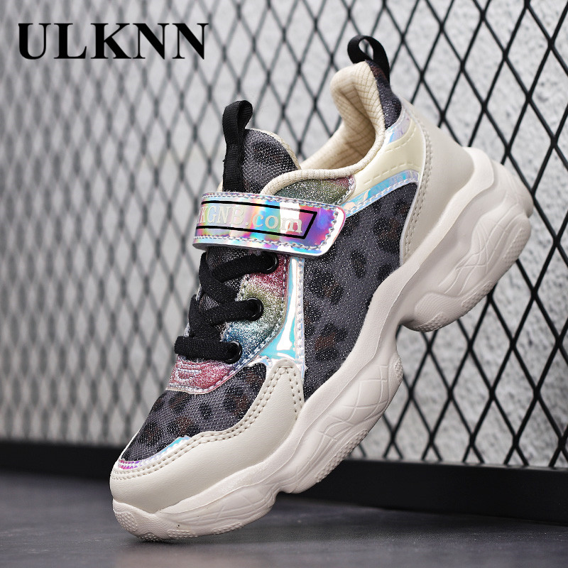 ULKNN CHILDREN'S Shoes Girls SNEAKERS Mesh Breathable 6 Kids Shoes Soft-Sole Anti-slip Little Girl Students 10-Year-Old