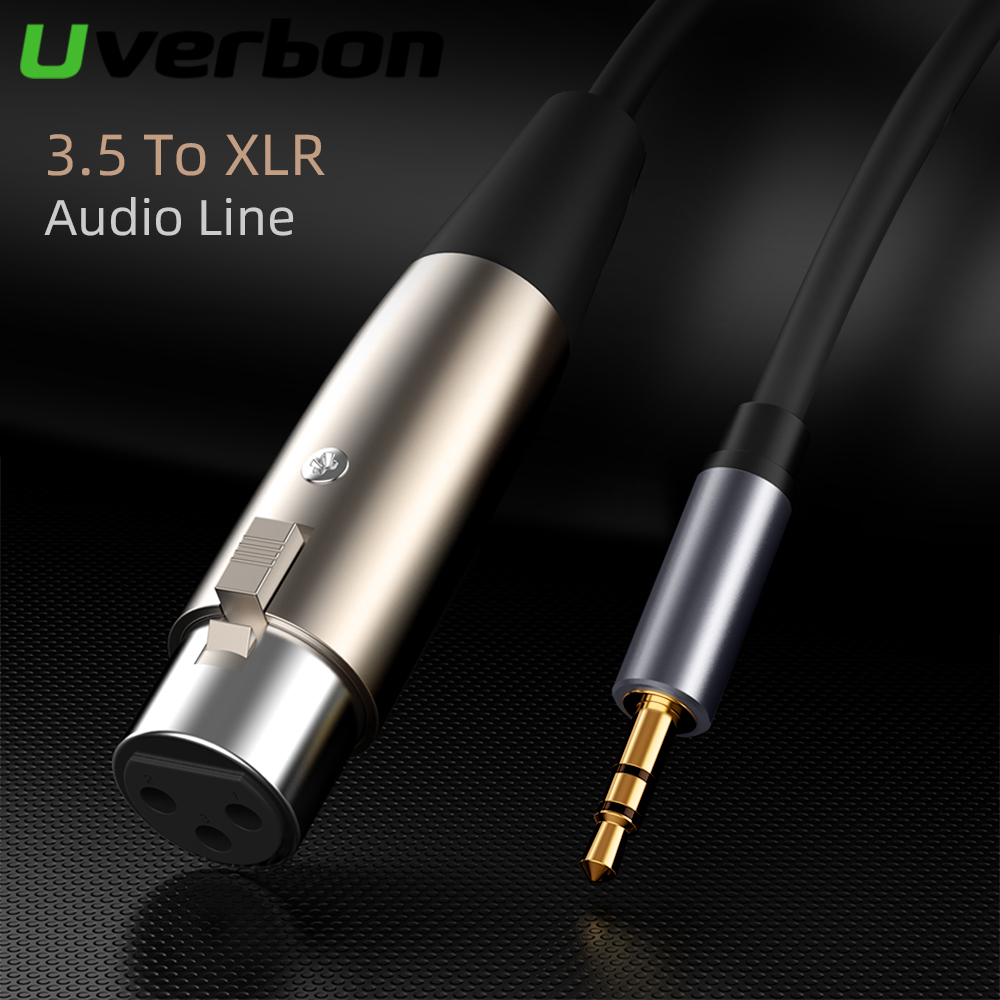 XLR 3 Pin Male To Female 3.5mm Jack To XLR Audio Cable For Microphone Speakers Sound Consoles Amplifier XLR Cable Connector