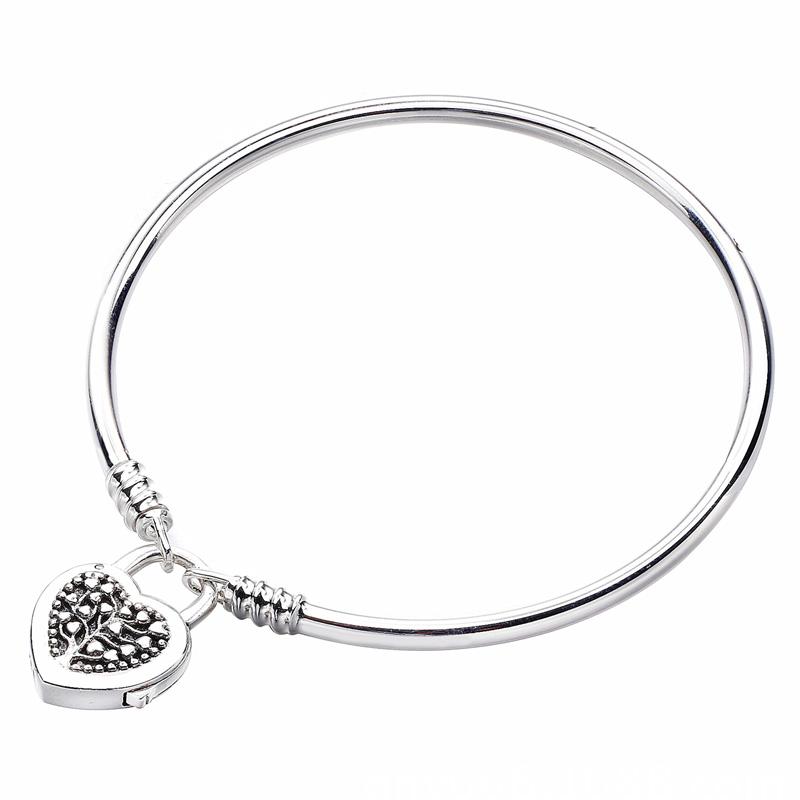 New 925 Sterling Silver Anklets MOMENTS Tree of Life Love Heart padlock Clasp Bracelet Bangle Fit Bead Charm DIY Fine Jewelry