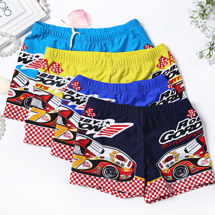 Car Print Boys Kids Swim Trunks Shorts 3 Colors Bandage  Kids Boys Swimming Trunk Swimwear Summer Bathing Suit Beach Wear