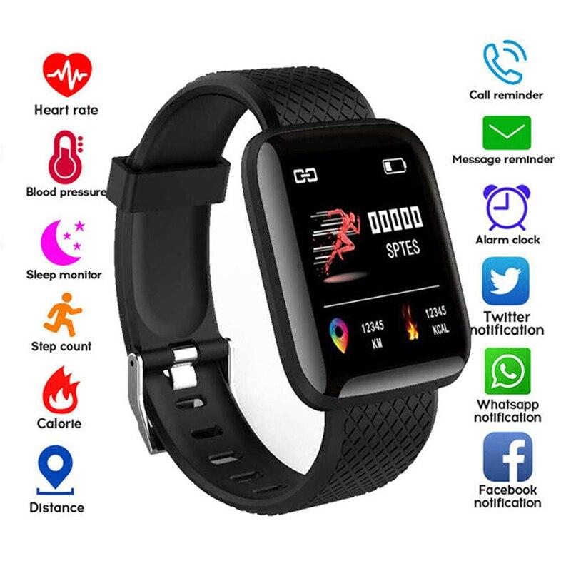 Reloj inteligente 116 Plus, pulsera deportiva para la salud, podómetro del ritmo cardíaco para la presión arterial, pulsera inteligente a prueba de agua|Relojes inteligentes|   - AliExpress