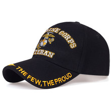New Fashion U.S. Marine Corps Veteran the few the proud Hats Letter Embroidered Caps Proudly Marine USMC Black Baseball Caps
