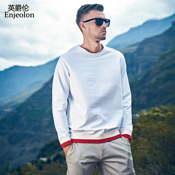 Enjeolon Brand Autumn Winter Hoodies Men O-neck Solid Color Casual Sweatshirt Hoodie Male Hoody Streetwear chaquetas WY159