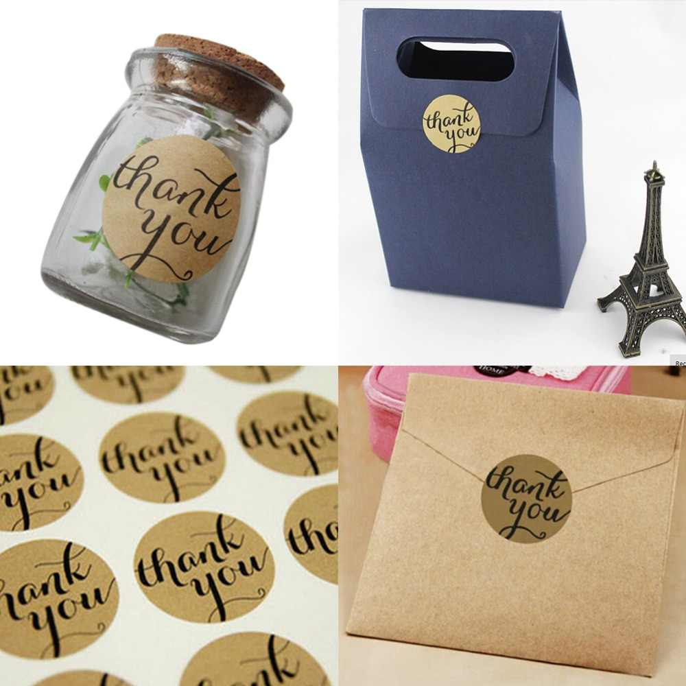 12 Uds./1 hoja gracias pegatinas de papel hechas a mano etiquetas sello artesanía conservefood calcomanía fiesta regalo de boda
