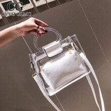 Luxury Designer Handbag Messenger-Bag Crossobdy-Bags Shoulder Transparent Cvvo Glmc 2PC