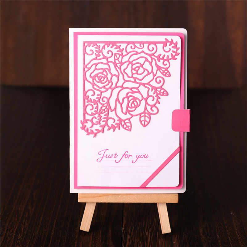 InLoveArts borde Rosa corte de Metal troqueles flor encaje esquina troqueles nuevo 2019 para hacer tarjetas Scrapbooking grabado troquelado