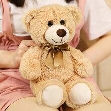 KUY-oso con pajarita colorido para niños, juguete de peluche, oso de peluche, regalo de cumpleaños, oso de peluche, para el hogar, sala de estar y dormitorio