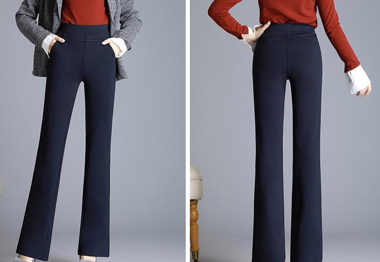 2020 NEW Autumn Ladies Stretch Em8 Straight Trousers Women Casual Pants Large Size JH3322-09