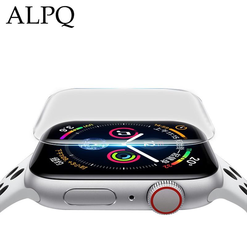 ALPQ Soft Hydrogel Full Screen Protector Film For Apple Watch 38mm 42mm 40mm 44mm Screen Protector For Iwatch Series 5 4 3 2 1