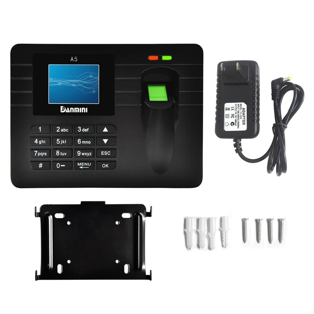 DANMINI A5 2.4-Inch TFT Color Screen Fingerprint Recorder Free-software Employee Attendance Machine Time Clock Recorder