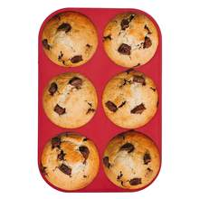 Molde de muffin de silicone de grau alimentício bandeja de cozimento antiaderente bakeware para assar muffins de ovo bolos muffins grandes