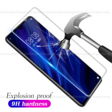 9H gehärtetem film Für Huawei P30 P20 Lite Y6 Y7 Y9 P Smart 2019 Mate 20X10 Pro screen protector Für Honor 20 8 10 9 Lite 8C 8X(China)