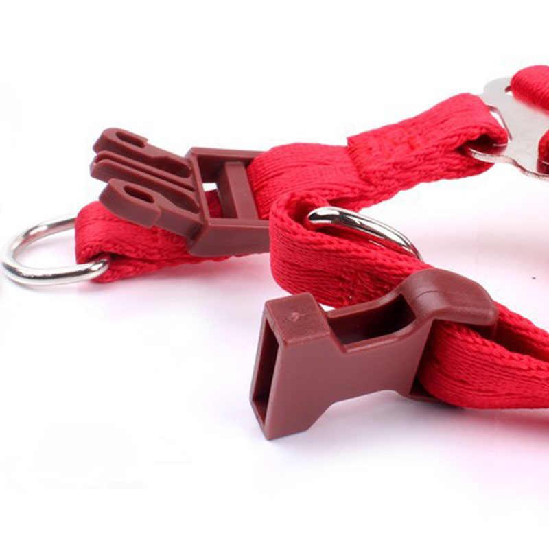 色のナイロンペットの犬の鎖ハーネス猫調節可能なランニングリーシュロープ子犬リード小大犬猫ペットリーシュ