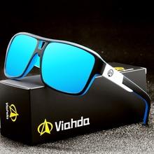 Viahda 2020 Polarized Sunglasses Men Sport eyewear HD Sun Glasses Square Reflective Coating Women outdoor lunette de soleil