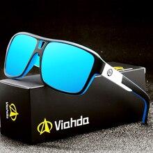 Viahda 2020 polarizado óculos de sol dos homens do esporte óculos de sol hd quadrado revestimento reflexivo mulher ao ar livre lunette de soleil