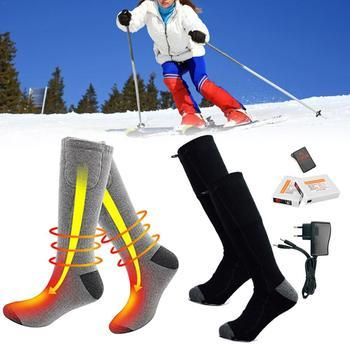 2019 najnowszy pilot elektryczny gorący skarpetki 2200m termostat ładowania baterii litowej ogrzewanie skarpetki mogą być myte i ciepłe tanie i dobre opinie Pasuje prawda na wymiar weź swój normalny rozmiar Chłopcy Skiing Pończochy Electric Heated Socks Outdoor Skiing Cycling Sport Heated Socks