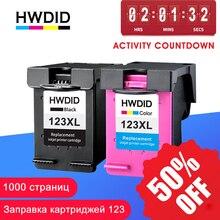 HWDID 123XL تعبئتها خرطوشة حبر استبدال ل HP 123 XL ل منضدية 1110 2130 2132 2133 2134 3630 3632 3638 4520 4522
