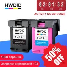 HWDID 123XL llenar reemplazo de cartucho de tinta para HP 123 XL para Deskjet serie 1110, 2130, 2132, 2133, 2134, 3630, 3632, 3638, 4520, 4522