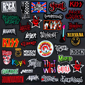 BAND Music Patch Badges Embroidered Applique Sewing Iron On Badge Clothes Garment Apparel Accessories