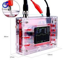 """Полностью Собранный цифровой осциллограф 2,"""" TFT дисплей зонд Аллигатор тестовый зажим для Arduino с прозрачным акриловым чехол"""
