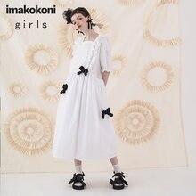 Белое кружевное платье imakokoni с коротким рукавом оригинальное