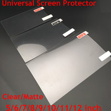 3 uds. Universales 5/6/7/8/9/10/11/12 pulgadas protectores de pantalla transparente/mate lámina protectora para móvil Smart phone Tablet/GPS Car LCD/MP3 4(China)