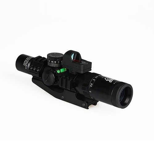 Canis Latrans 1 4x24 Irf Rifle Scope 2moa 1x Mini Red Dot Sight Riflescope Bubble Level 30mm Double Scope Mount Hk1 0292 Aliexpress