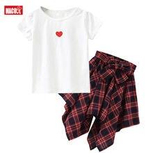 Комплекты одежды для девочек клетчатый костюм с юбкой детская