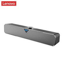 Lenovo l102 tv barra de som com fio e versão bluetooth casa surround soundbar para o teatro de computador tv mini alto-falante baixo estéreo