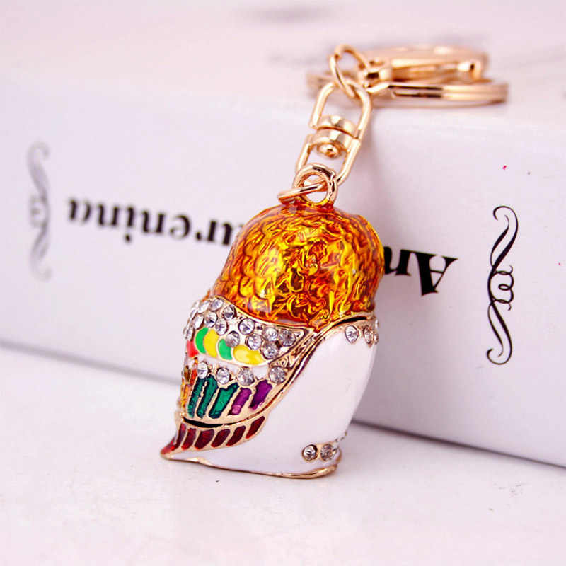 Fashion 3D Owl Keyrings Cartoon Bird Keychains Crystal Rhinestones Multicolor Enamel Glazing Key Chain Ring Holder For Car Holde