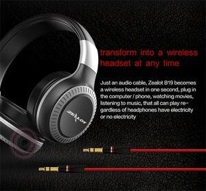 Image 5 - Gorliwy B19 słuchawki bezprzewodowe z radiem fm zestaw słuchawkowy Bluetooth słuchawki Stereo z mikrofon do komputera telefon, wsparcie TF,Aux