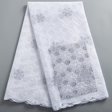African Lace Fabric High QualityDubai Holes Cotton Stones Swiss Voile Lace In Switzerland For Wedding Sewing 2389A