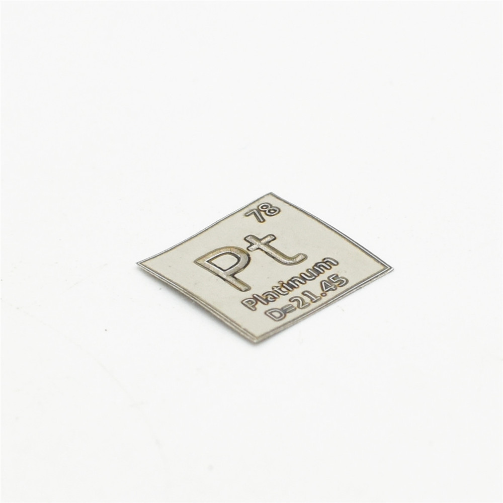 High Purity Platinum 3N5 Pt Electrode Sheet Inert 99.95% 4 Research and Development Element Metal Simple Substance Refined Metal