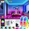 WiFi LED Streifen Lichter Bluetooth RGB 5M-30M 5050 SMD Flexible Ribbo Wasserdicht Klebeband Diode Adapter LED lichter Für Zimmer TV Backlit